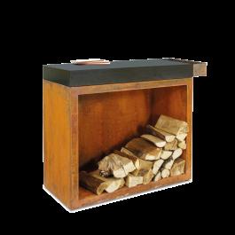 OFYR Butcher Block Storage 90 Corten Céramique Gris Anthracite