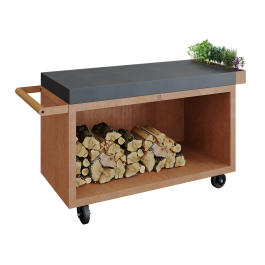 Mise en Place Table Corten 135 PRO Teak Hout
