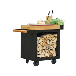 Mise en Place Table Black 65 PRO Teak Hout