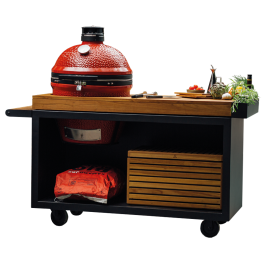 OFYR Kamado Table Black 135 PRO Teak Hout KJ