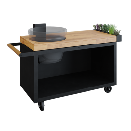 OFYR Kamado Table Black 135 PRO Bois de Teck KJ