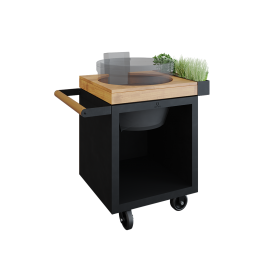 OFYR Kamado Table Black 65 PRO Teak Wood KJ