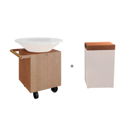 OFYR Classic Corten Upgrade Set + Block Teak Wood